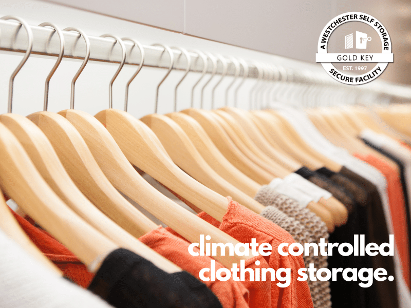 climate controlled clothing storage