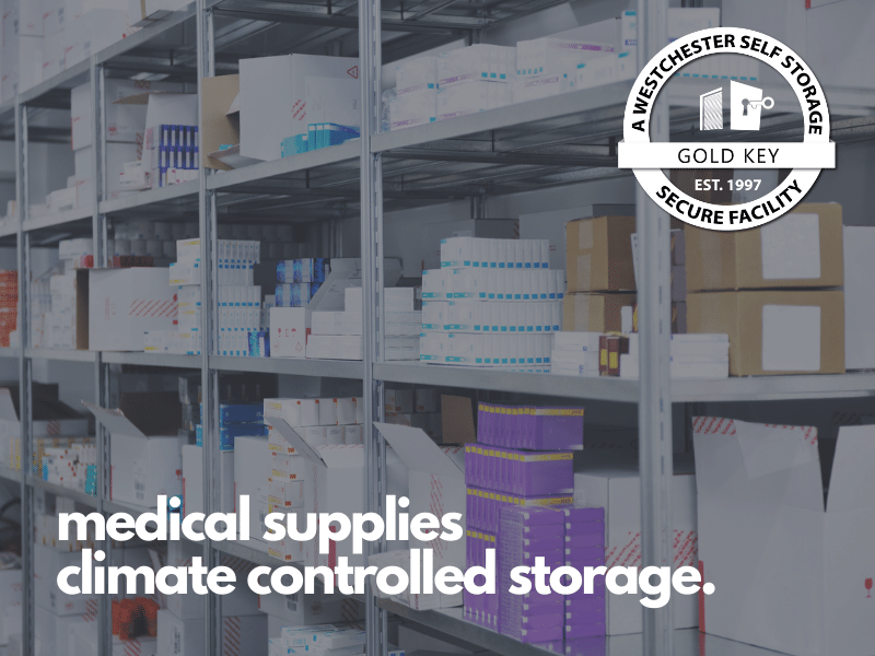 medical supplies climate controlled storage