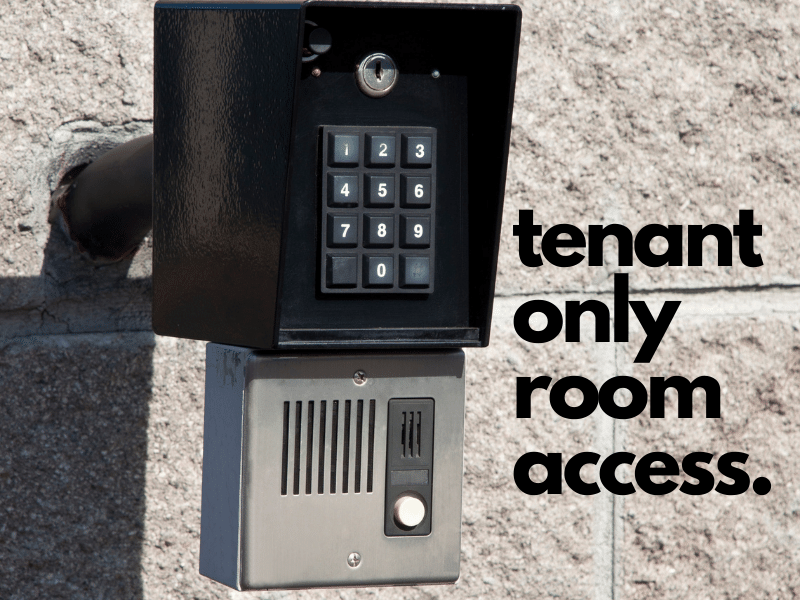 tenant only room access