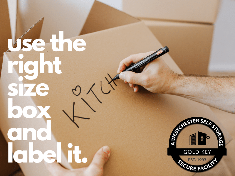 use the right size box and label